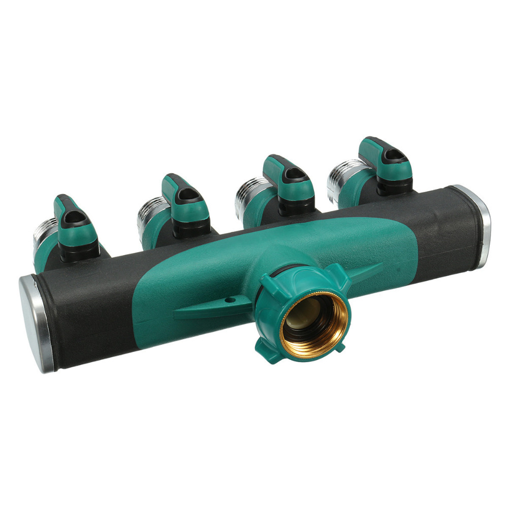 Garden Hose Connector With Hoses Washer 4 Way Heavy Duty Hose Tap ...