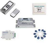 Metal Case access Biometrics Fingerprint Access Control RFID Reader electric drop bolt door lock kit with 10 tags 10 pvc cards