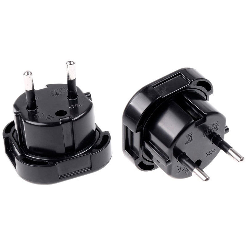 New Universal Travel UK to EU Euro Plug AC Power Charger Adapter Converter Socket Black Power Plug Adaptor Connector