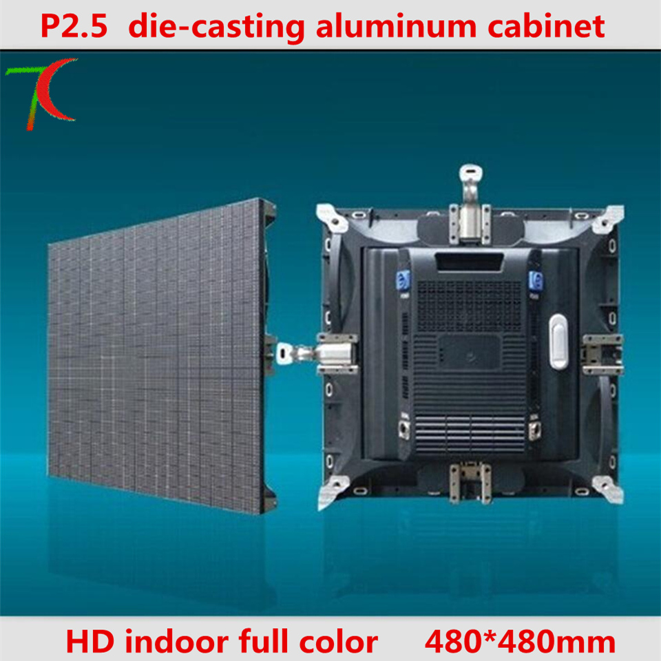 32 scan 480*480mm P2.5 Die casting aluminum hd rental equipment cabinet screen