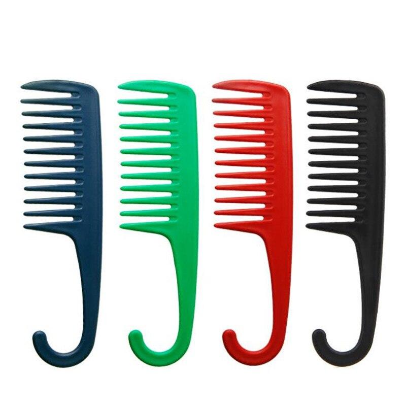 Aufstrebend 1 Pc Großen Zahn Kamm Mit Einem Haken Haar Styling Werkzeuge Lockiges Haar Kämme Salon Cut Haar Werkzeug Und Verdauung Hilft