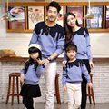 2016 NOVA Família Combinando Roupas pai mãe filho filha camisola família olhar para a primavera outono roupa dos miúdos da camisola