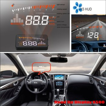 Car HUD Head Up Display for Infiniti Q50 Q60 2015 2016 - Refkecting Windshield Screen Safe Driving Screen Projector