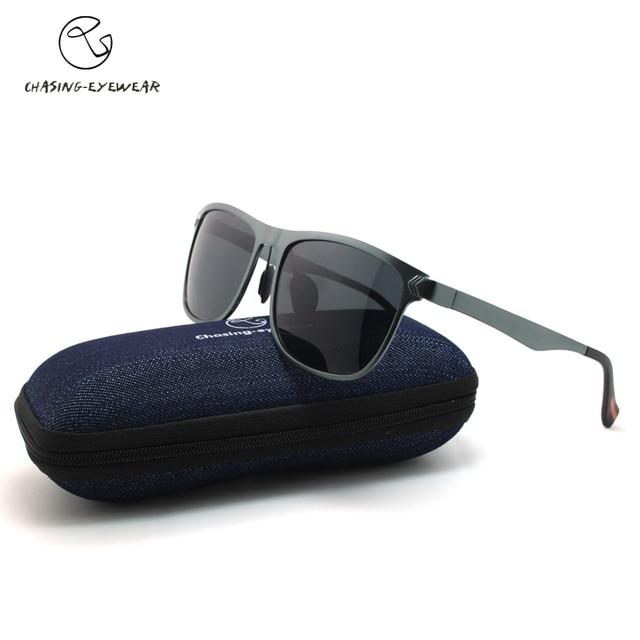 1851d8a415063 Perseguindo Marca melhores óculos de sol para Homem Black frame polarized  cinza lente óculos de Condução