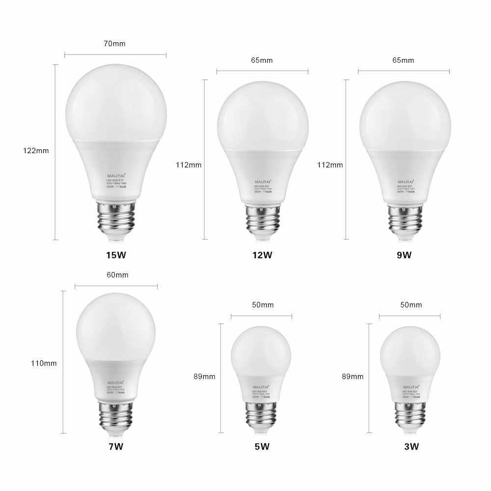 220V E27 LED 電球 5 ワット 7 ワット 9 ワット 12 ワット 15 ワット LED キャビネットキッチンスマート IC ランプ屋内寝室ホームシャンデリア照明