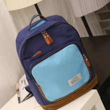 Для девочек-подростков школьный большой Ёмкость Холст сумка модная женская Повседневная Легкий Рюкзак Школьная Сумка