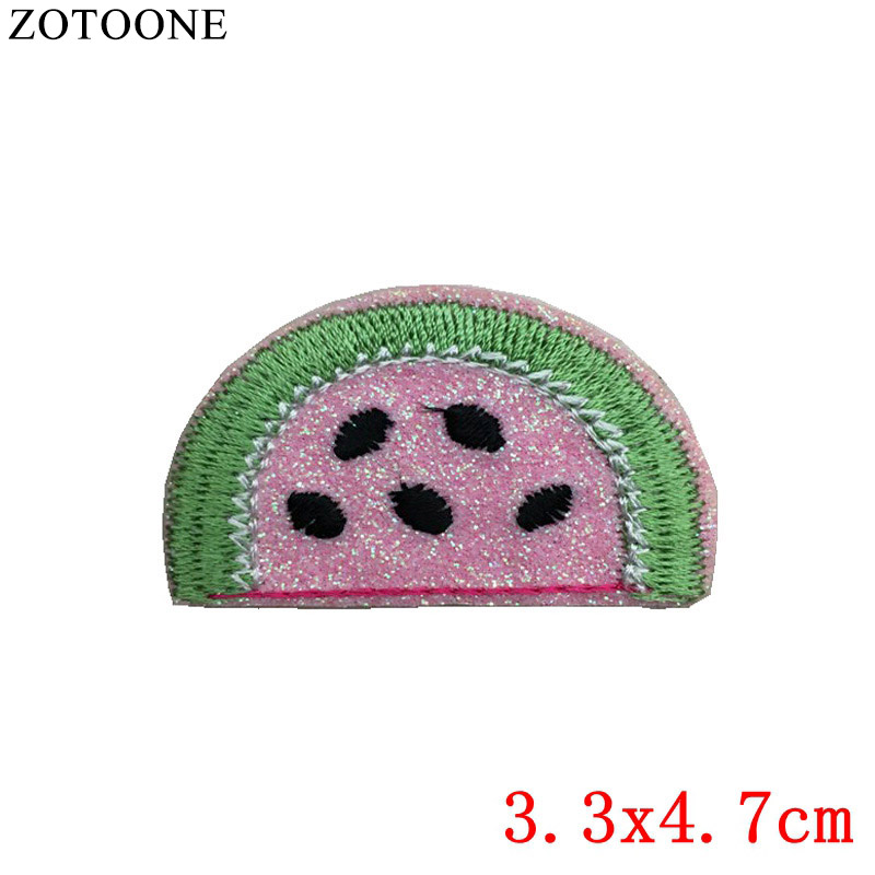 ZOTOONE Cheap Embroidered Cartoon Patches Iron On Kids Clothes Shooting Target Appliqued Stickers For Jacket Jeans DIY Accessory