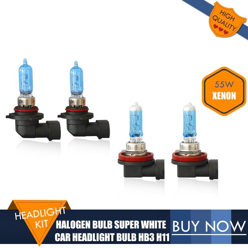 HB3 H11 Car Headlight 55W Halogen 4300K Xenon Super White Car Lights Source Car Bulb For Toyota Verso/Highlander/Avalon 4PCS/LOT