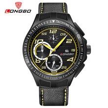 LONGBO Hombres Enérgicos Negro Deporte Relojes Correa de Cuero Fecha Auto Digital Militar Reloj de Vestir de Cuarzo Reloj De Pulsera de Lujo Para los niños