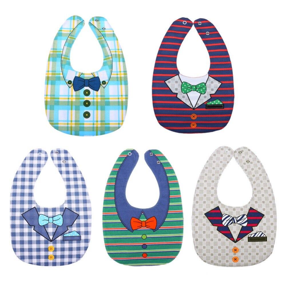 Baby BibCute Cartoon Printed Infant Saliva Towels Newborn Wear Baby Clothing Accessories Waterproof Bibs