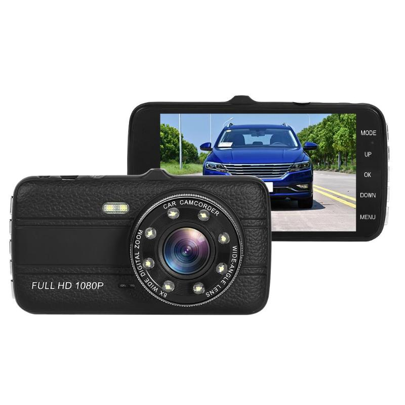 Car DVR Dashboard-Camera 170 Night-Vision WDR SE001C Low-Angle 4inch-Screen
