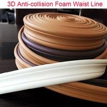 3D Anti-collision Foam Waist Line Wall Sticker Wallpaper Baseboard border Strip Ceiling Kids room Home Decorative Lines