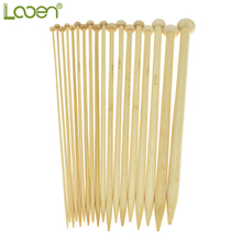 36 Pcs 25cm 18 Sizes Bamboo Knitting Needles Set 2.0mm to 10.0mm Single Point Women Weave Craft Yarn Sewing Tools