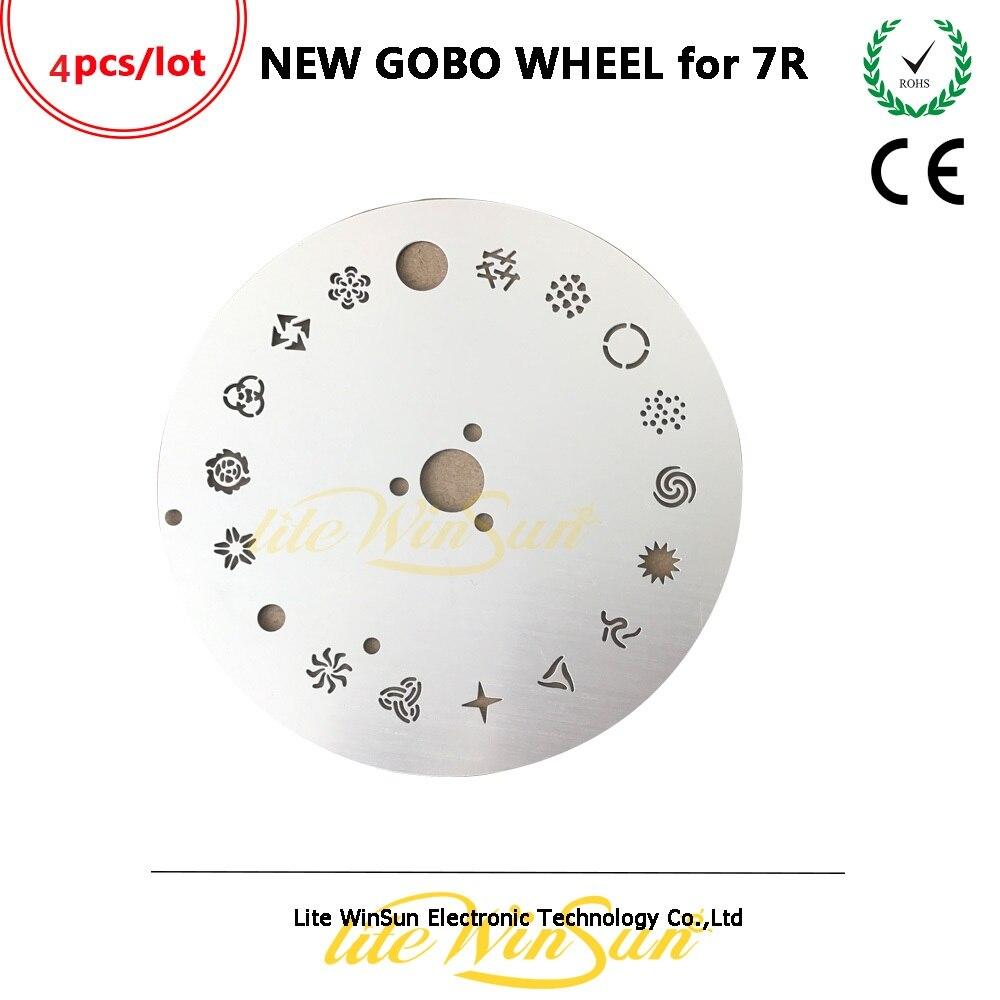 Litewinsune 4pcs NEW Fix Gobo Wheel for Beam 5R Beam R7 Moving Head Stage Lighting Parts