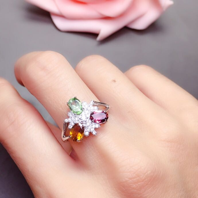 Free shipping Natural real tourmaline ring 925 sterling silver Handworked rings For men or womenFree shipping Natural real tourmaline ring 925 sterling silver Handworked rings For men or women