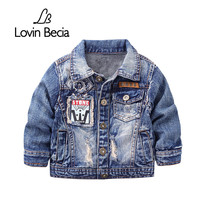 LovinBecia Kids Denim Jacket For Boys Coat Fashion Causal Clothing Children Outerwear Cowboy Toddler Boys Canvas