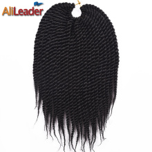 AliLeader 6 Colors 12 Inch 100 Kanekalon Fiber Senegalese Twist Synthetic Crochet Braids Hair For Braiding, 22Roots*3 Packs/Lot