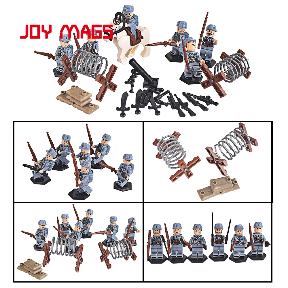 JOY MAGS Military SWAT 165 Building Blocks War Police Army with Weapons Toy Compatible with Lego military city police swat team army soldiers with weapons ww2 building blocks toys for children gift