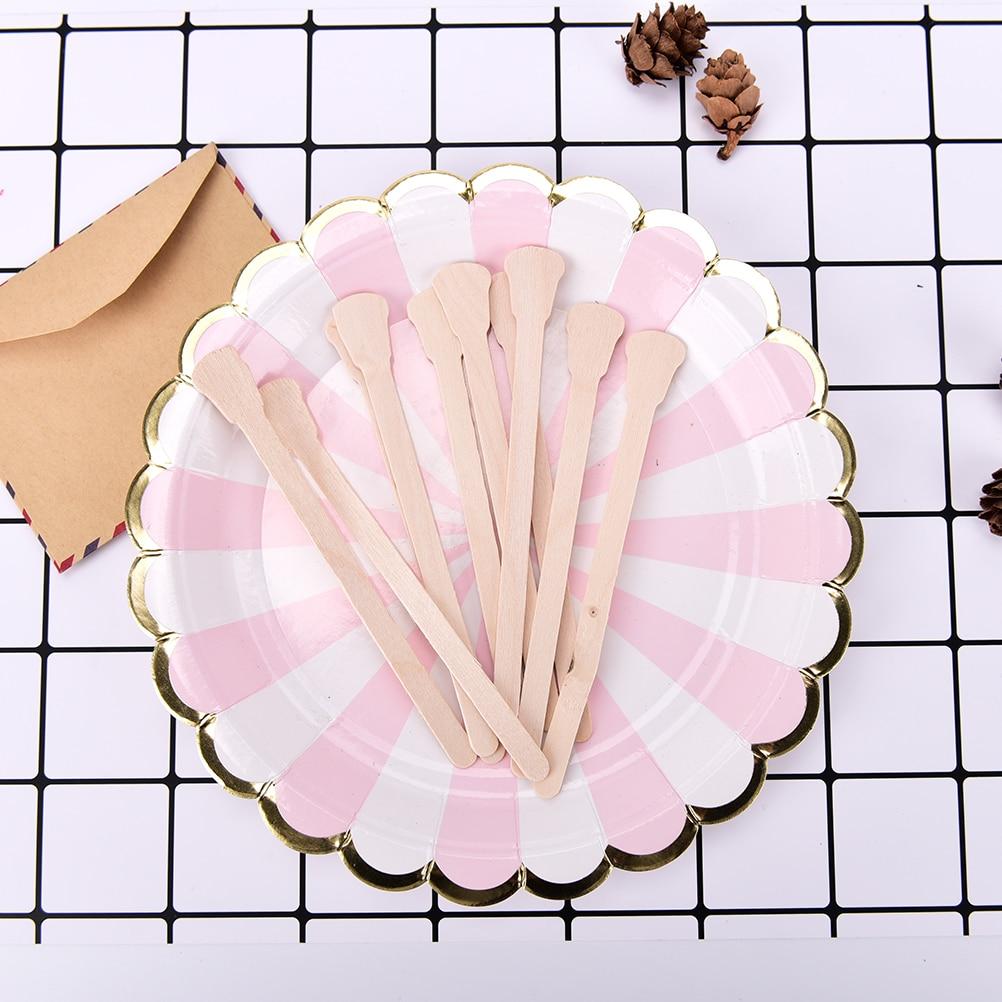 10 Teile/paket Körper Haarentfernung Stick Wachs Waxing Einweg-sticks Schönheit Kulturbeutel Kits Holz Zungenspatel Spachtel Bambus-sticks