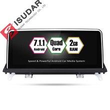 Isudar автомобильный мультимедийный плеер 2 din android 7.1.1 автомобильный DVD 10,25 дюйма для BMW/X5/F15/E70/X6/E71 32 Гб Rom Quad ядер gps радио FM
