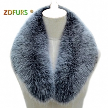 ZDFURS * Real fox fur Collar Women Shawl Wraps Shrug Neck Warmer Jacket Fur Collar Stole Natural fox fur Ring  scarves