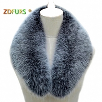 ZDFURS * Real fox fur Collar Women Shawl Wraps Shrug Neck Warmer Jacket Fur Collar Stole Natural fox fur Ring scarves
