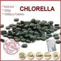 250g (250 mg x 1000 unids) 100% Orangic Chlorella Pyrenoidosa Chlorella Vulgaris Tablet Pared Rota de Alta Calidad rica de Clorofila