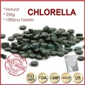 250g (250mgx1000pcs)100% Orangic Chlorella Vulgaris Chlorella Pyrenoidosa Tablet Broken Wall High Quality Rich of Chlorophyll