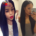 Middle Part Long Straight Hair Wig With Natural Hairline Cheap Wigs Best Quality Synthetic Lace Front Wig For Women