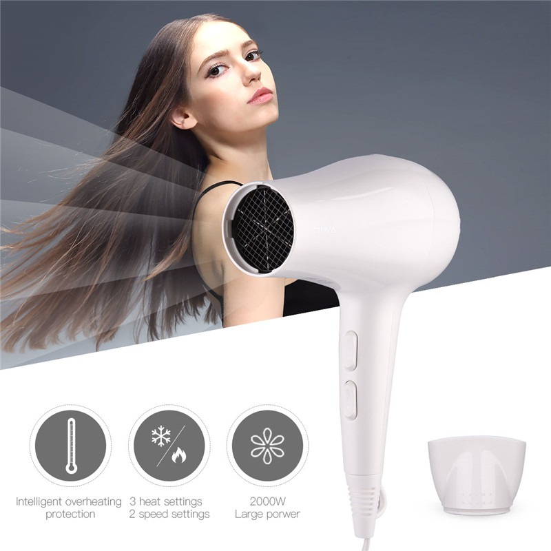 2000W Low Noise Electric Handle Hair Dryer Professional Hairdressing Salon Styling Tool Blow Dryer Powerful Blower Hot/Cold Wind 4000w professional home use hair dryer blow wind blower with concentrator diffuser cover hairdressing styling salon curly 42