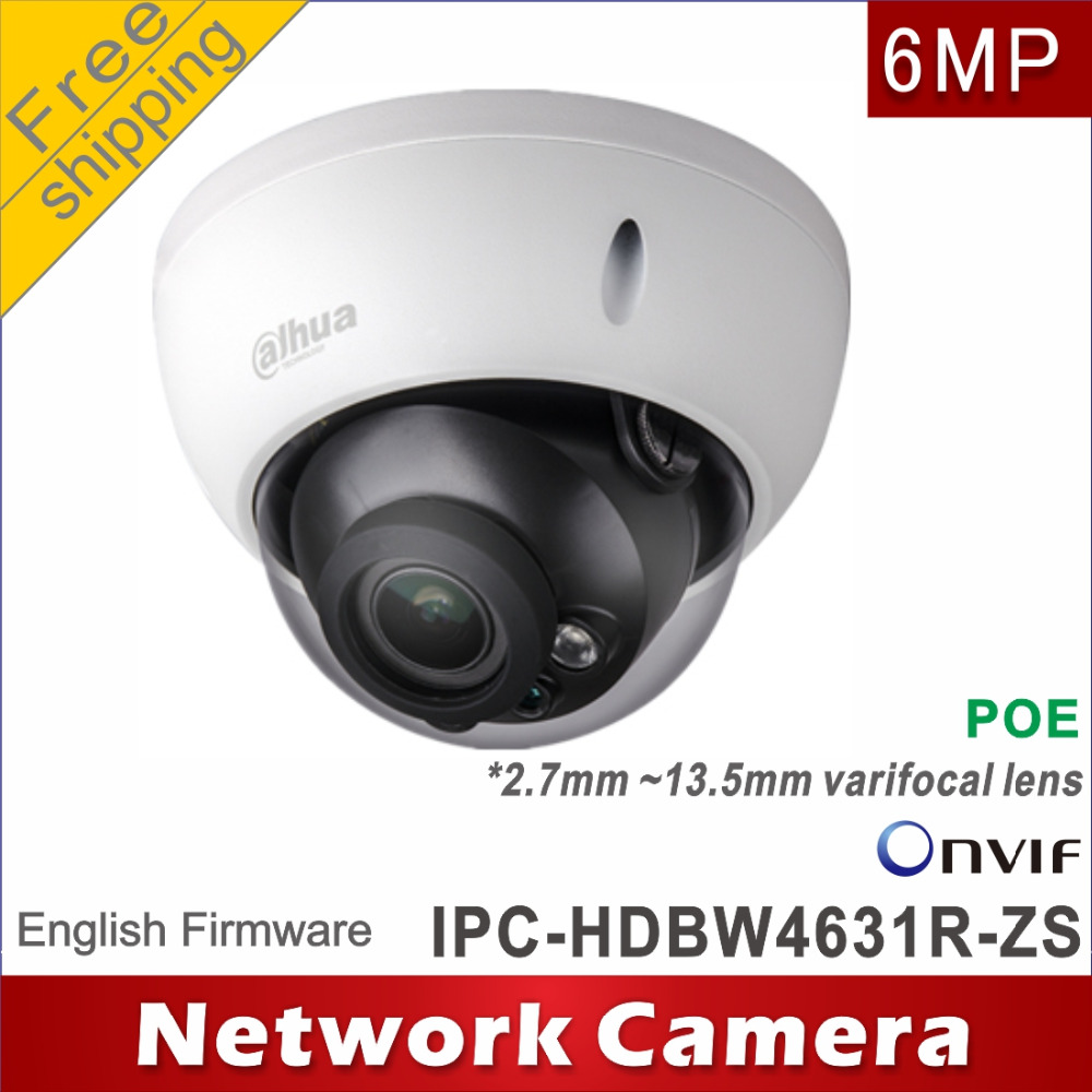 Free shipping Dahua 6MP IPC HDBW4631R ZS replace IPC HDBW2531R ZS 2.7mm ~13.5mm network camera ip camera Dome POE cctv camera-in Surveillance Cameras from Security & Protection    1