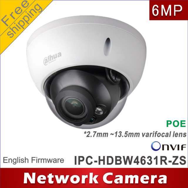 Free shipping Dahua 6MP IPC HDBW4631R ZS replace IPC HDBW2531R ZS 2.7mm ~13.5mm network camera ip camera Dome POE cctv camera
