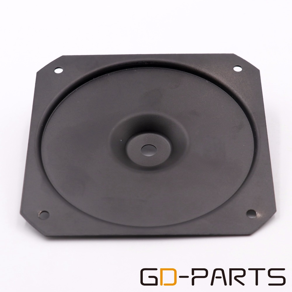 130x130mm Black Iron Plate For Mounting Vintage Transformers Round Transformer Triode Base