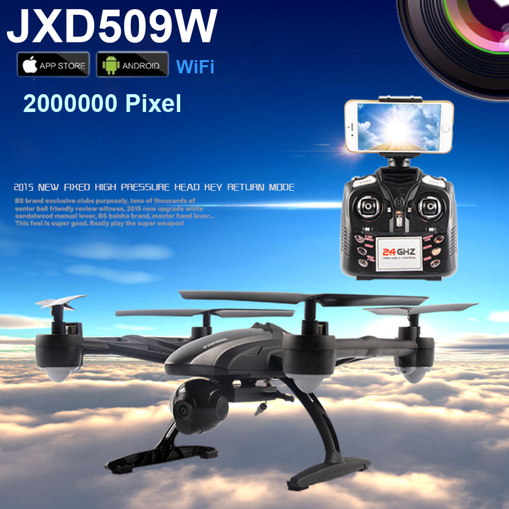 Smart WiFi FPV JXD 509W Android IOS Headless Aerial 6Axis 4CH RC Quadcopter RTF 2MP Camera Drone with Camera JXD 509G jxd 509 jxd 509g jxd509g 509w 509v quadcopter upper body shell cover