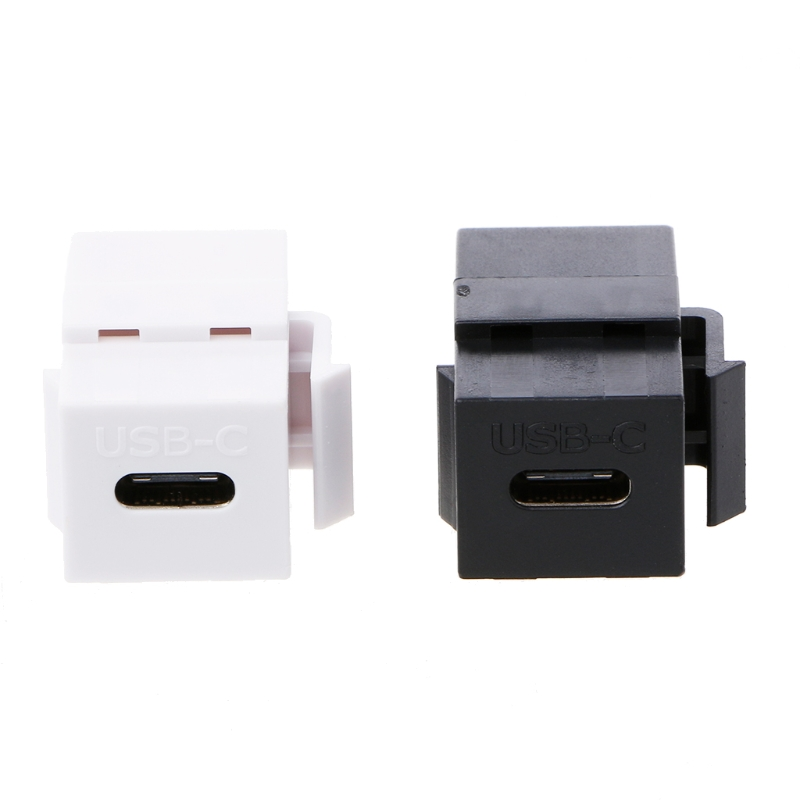 USB 3.1 Type C Female To Female Connector Jack Wall Socket Panel Mount Adapter
