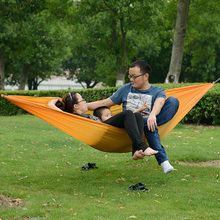 2 Person Hammock Sleeping Automatic Ultralight Lightweight Foldable Outdoor Traveling Camping Beach Mat Camping Hammock