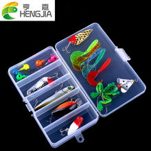 16PCS/Box Fishing Lure Set Fishing Box Kit Mixed Soft Bait Hard Bait VIB Spoon Crankbait Fishing Tackle Kit HJ095 Free Shipping