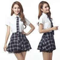 O envio gratuito de Japonês/Coreano Uniformes Cosplay Menina Da Escola Traje de Marinheiro Bonito Tops Saia Conjunto Completo JK