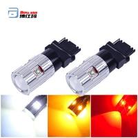 High Power 3156 3157 LED Bulbs P27W T25 P27/7W Breke Light Car DRL Turn Signal Back up Parking Brake Reverse Light White/Abmer