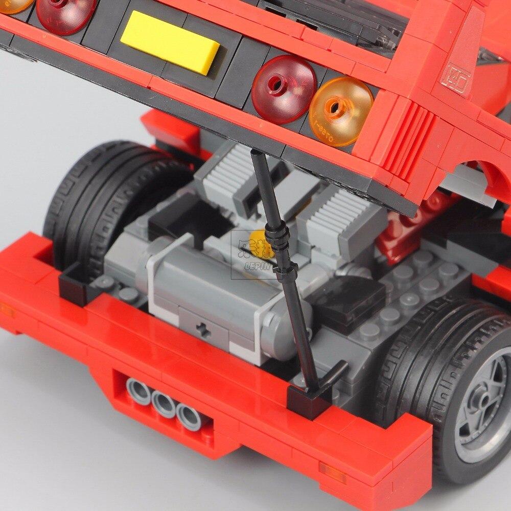 Lepin 21004 Ferrarie F40 Voiture de Sport Modèle Blocs De Construction De Briques Jouets Compatibles avec 10248 - 5
