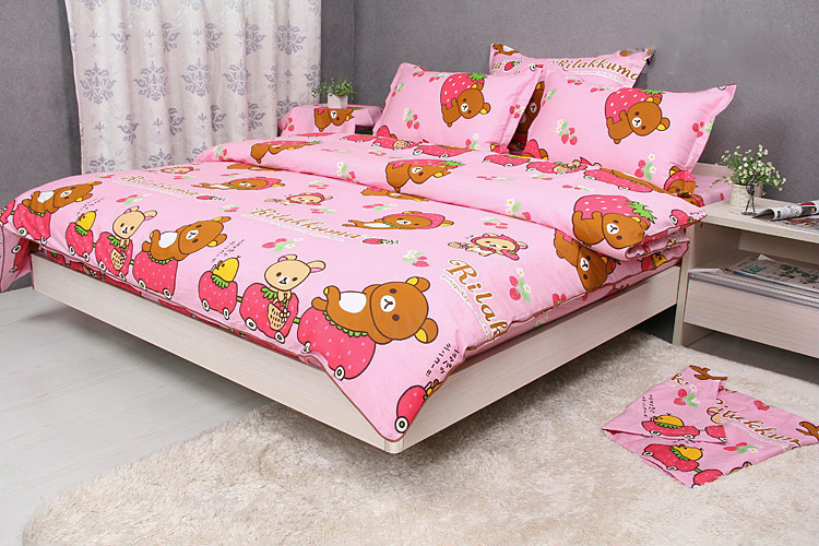 Pink Rilakkuma Bedding Set Twin Full Queen King