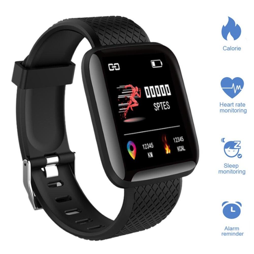 1.3 Polegada suporte de relógio inteligente grande tela colorida real-time monitor de oxigênio freqüência cardíaca pressão arterial à prova dwaterproof água pulseiras inteligentes