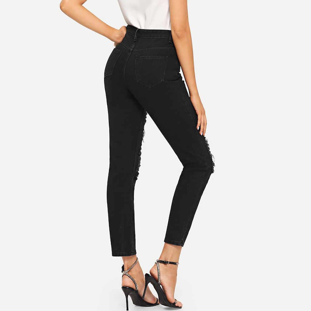 2019 Sıcak Satış Moda kadın Streç Kot kadın Düşük Bel Streç İnce Seksi Kalem Elastik Giysi Için Kadın