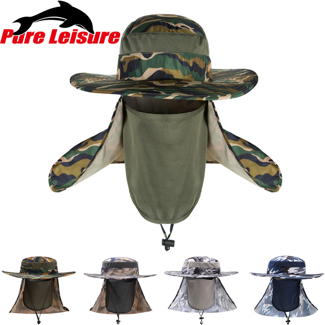 ... low price pureleisure 2018 new arrival bucket hat adults print cap  fishing hat anti mosquito fishing 3e175fb5baf4