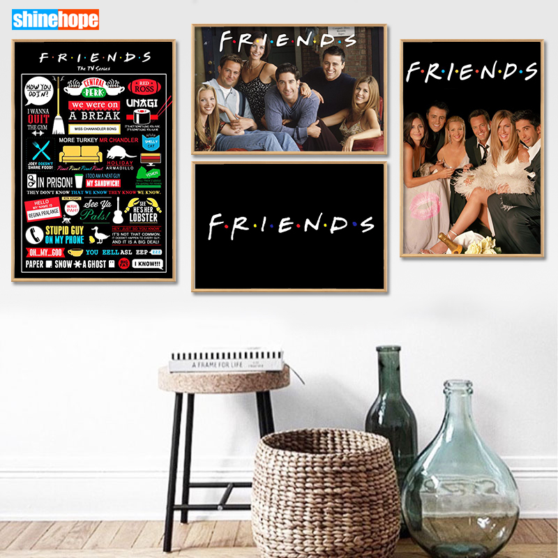 Poster Canvas Cloth-Fabric Silk Tv-Show Print Home-Decoration Custom-Friends 30x45cm