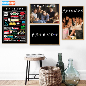 Custom Friends TV Show Poster Canvas Poster 30X45cm,40X60cm Art Home Decoration Cloth Fabric Wall Poster Print Silk Fabric(China)
