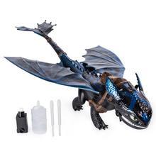 Натуральная кожа, футболка с изображением героев мультфильма «Как приручить дракона гигантские огнедышащий с беззубиком, 20-дюймовый дракон с огнедышащий эффекты детская игрушка в подарок