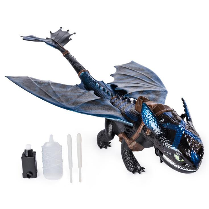 Genuine How To Train Your Dragon Giant Fire Breathing Toothless 20-inch Dragon With Fire Breathing Effects Children Toy Gift