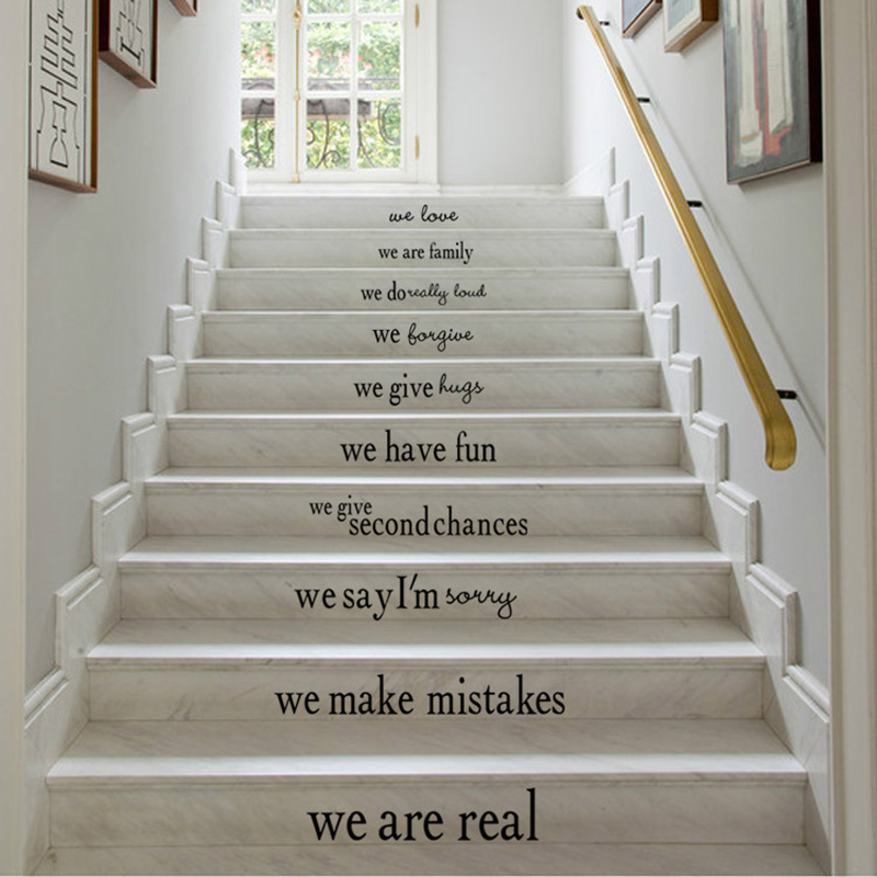 Diy Home Decor Wall Sticker New 2016 Brand Home Decorative Decals Poster Stairway Stickers Easy To