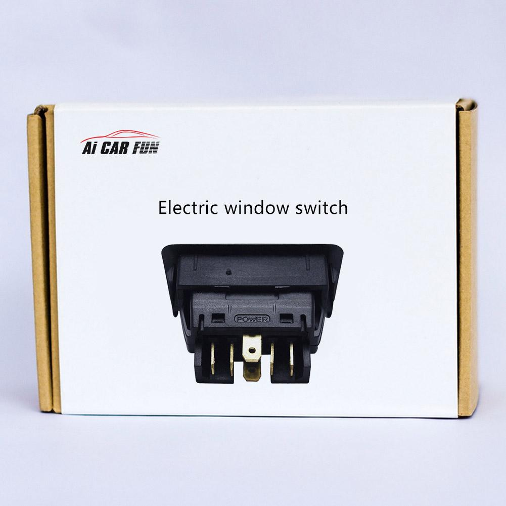 CATINBOW New 1PC Packs Universal 6Pin 12 24V Car Electric Window Switch With Green Light Electronic Components Dropshipping in Intelligent Window Coser from Automobiles Motorcycles